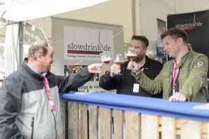 Thomas, Pit and Martin, the organisers of the Craft Beer Festival