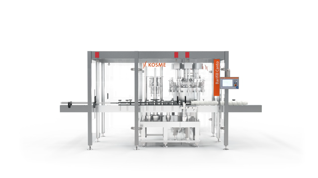 A real innovation of the Krones Group: Multipurpose filler Kosme Barifill Canto for bottles and cans