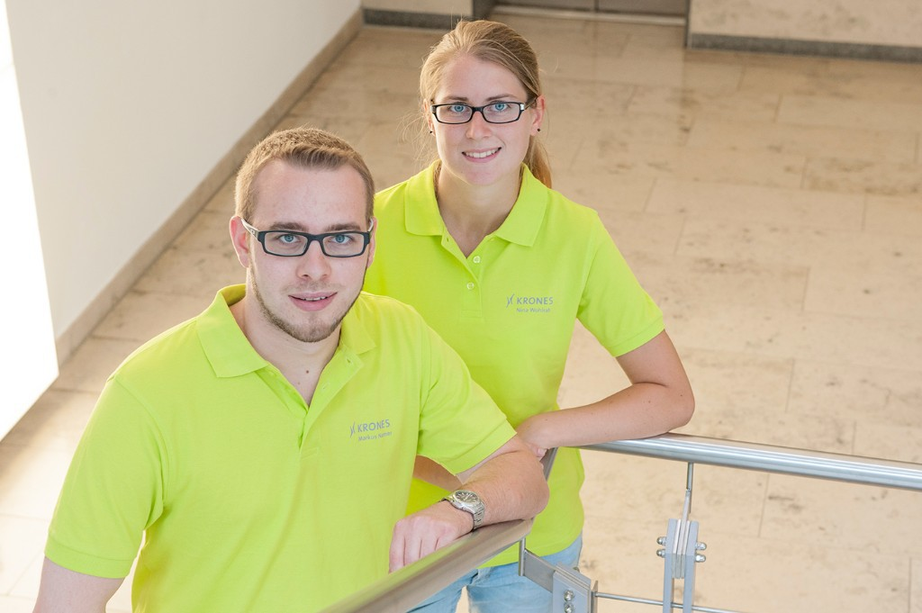 Trainee at fair Technology Team: Markus and Nina – technology experts for the BrauBeviale 2014
