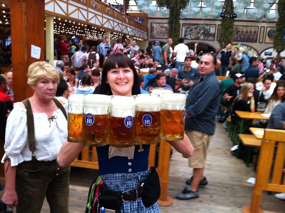 Waitressing at the Oktoberfest – lots of fun, good money, and hard work