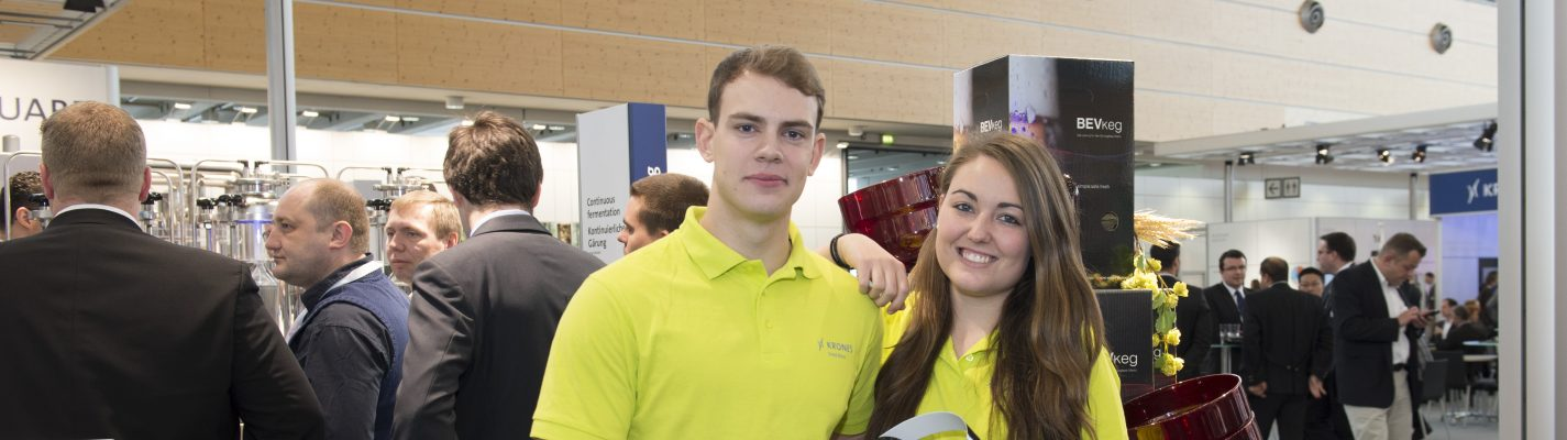 Trainee at fair: Fred – BEVkeg – BrauBeviale!
