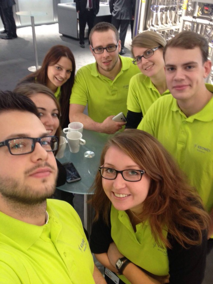 Krones trainees at the trade fair Brau Beviale in Nuremberg
