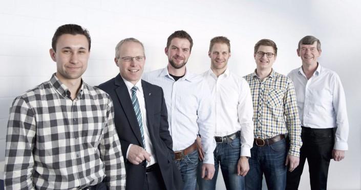 Das Team hinter der Kreispumpe, v. l. : Alexander Mai, Martin Zierer, Daniel Gross, Stephan Mannl, Thomas Obendorfer und Willi Wiedenmann.