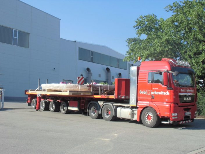 Shipping of the boring mill