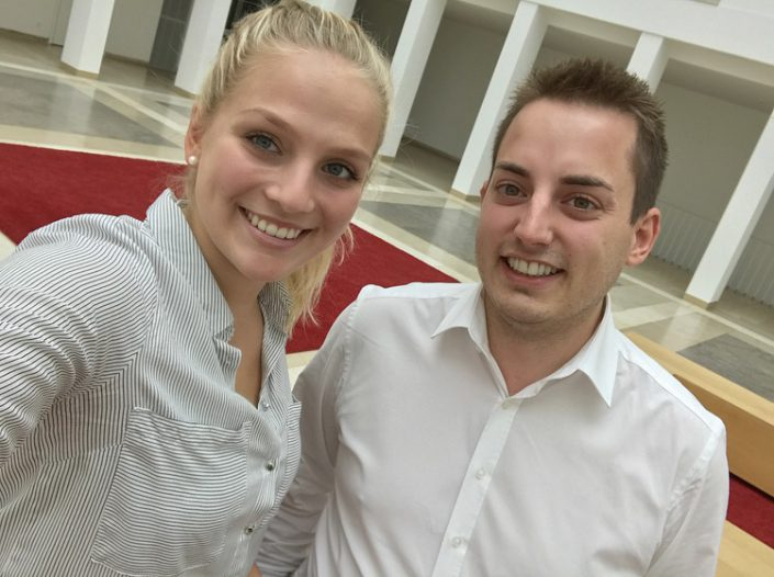 v.l.n.r. Stefanie Rebele (20) und Joseph Heuschneider (28)