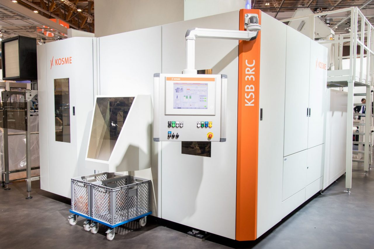 KSB 3R Compact and 4R Compact stretch blow-moulding machines from Kosme